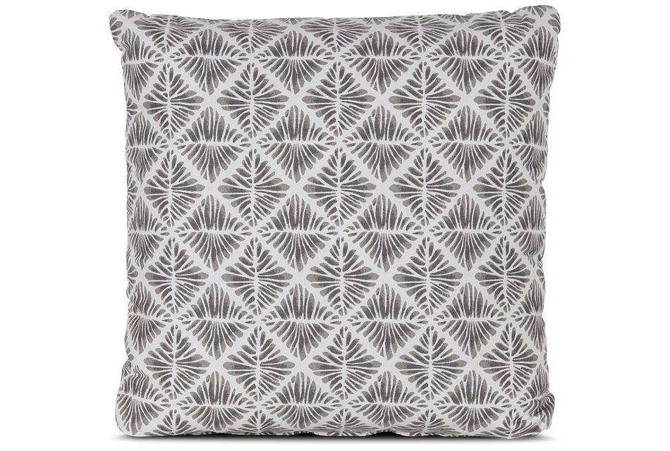 """Gem Field Gray 18"""" Square Accent Pillow"""