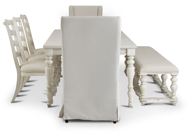 Savannah Ivory Rectangular Table And Mixed Chairs (2)