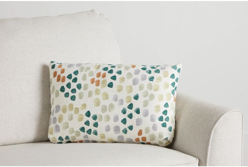 Pfeiffer Green Fabric Lumbar Accent Pillow,  (0)