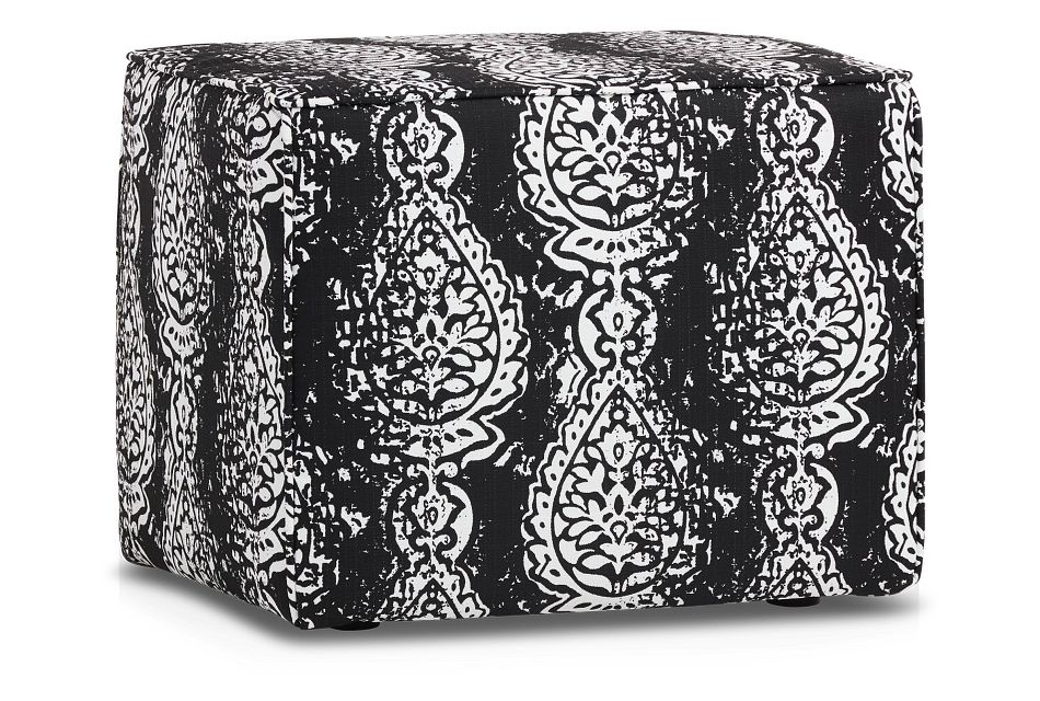 Manchester Black Indoor/outdoor Accent Ottoman
