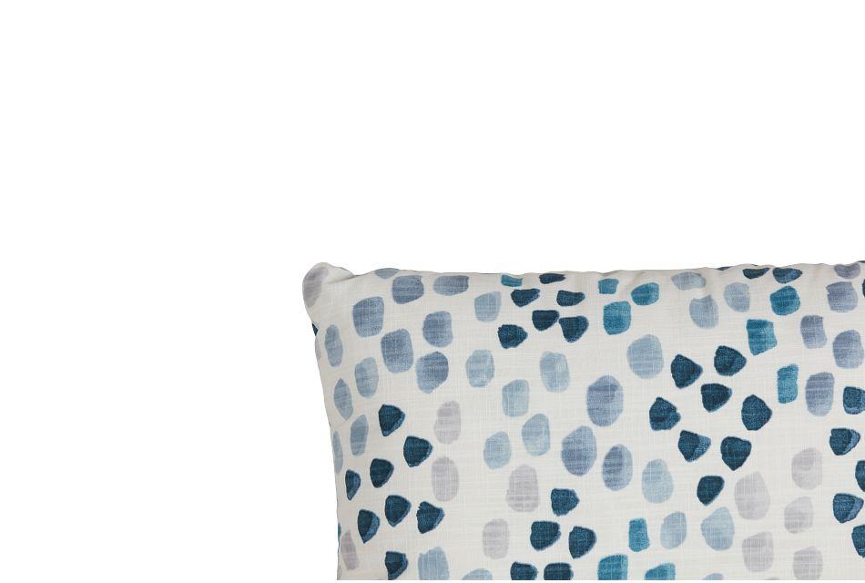 Pfeiffer Blue Fabric Lumbar Accent Pillow,  (1)