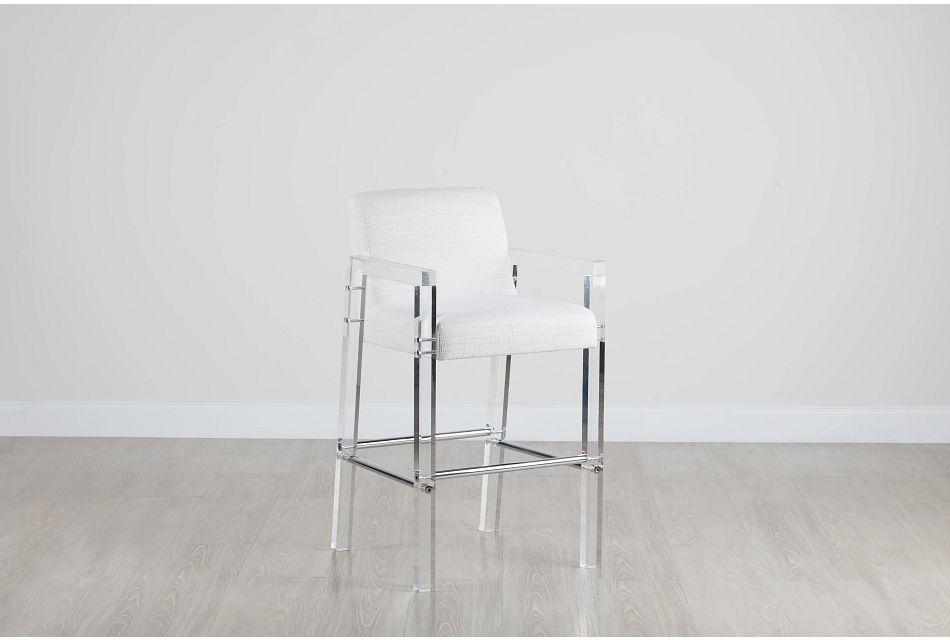 """Ocean Drive Whiteacrylic 30"""" Upholstered Barstool"""