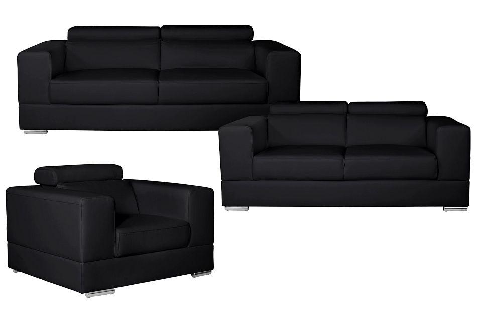 Maxwell Black Micro Living Room