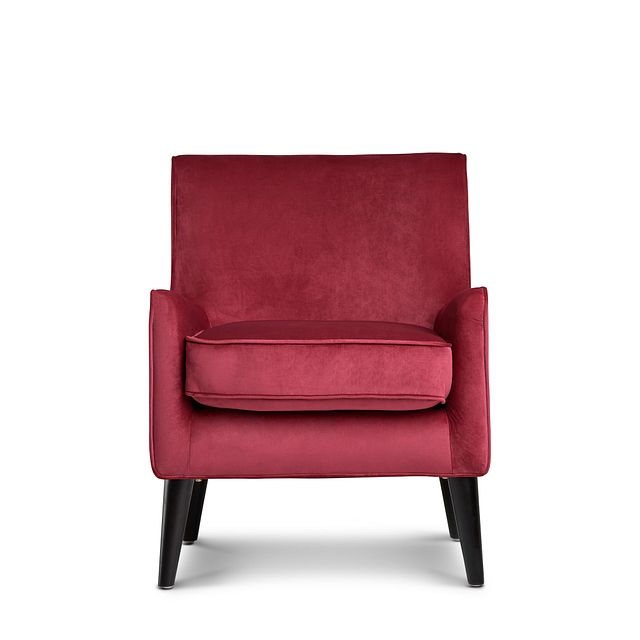 Angie Red Velvet Accent Chair (2)