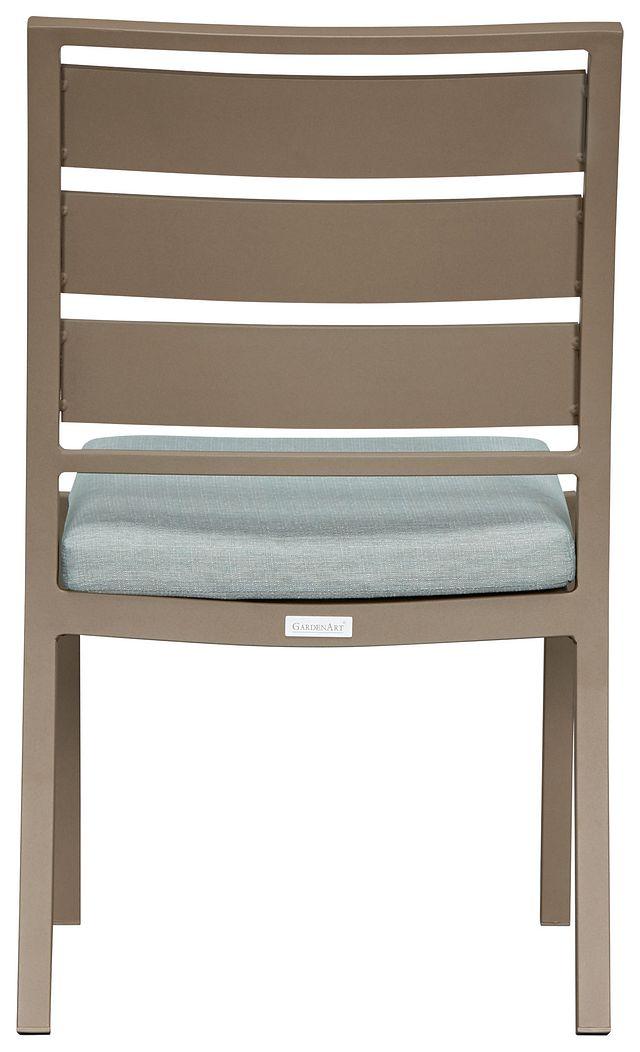 Raleigh Teal Aluminum Side Chair (2)