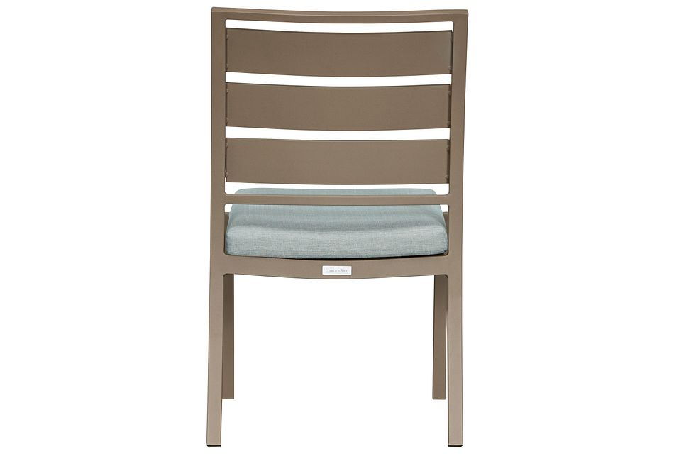 Raleigh Teal Aluminum Side Chair