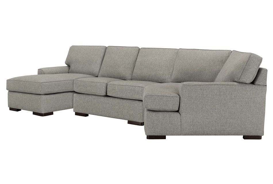 Austin GRAY FABRIC Left Facing Chaise Cuddler Sectional