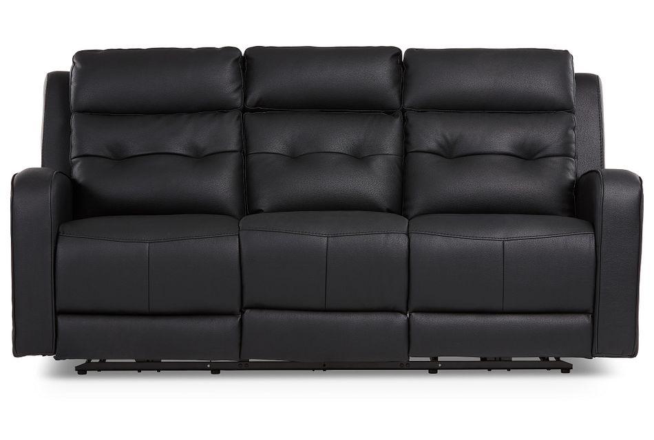 Mccoy Black Micro Reclining Sofa