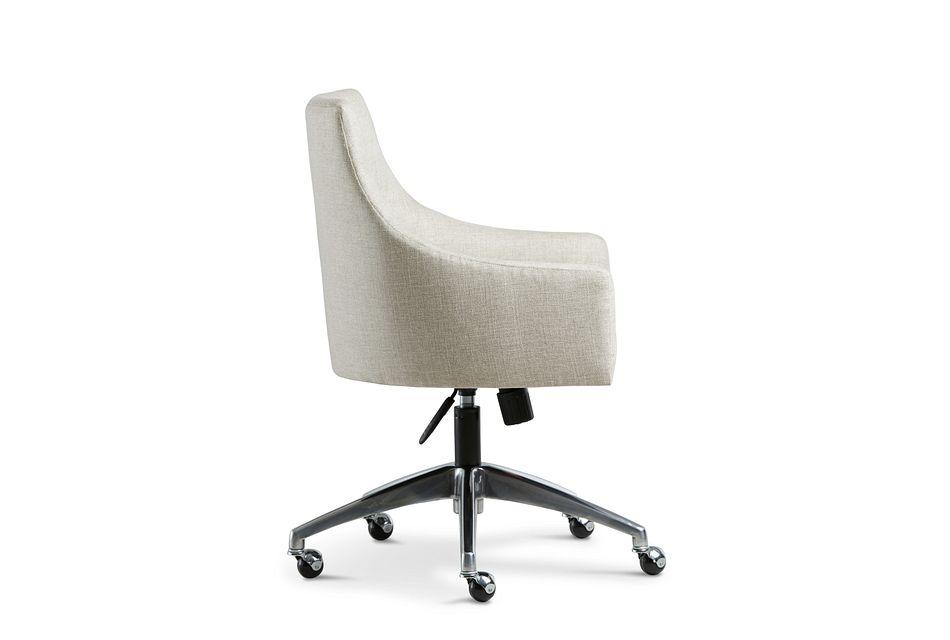 Newport Beige Metal Upholstered Desk Chair