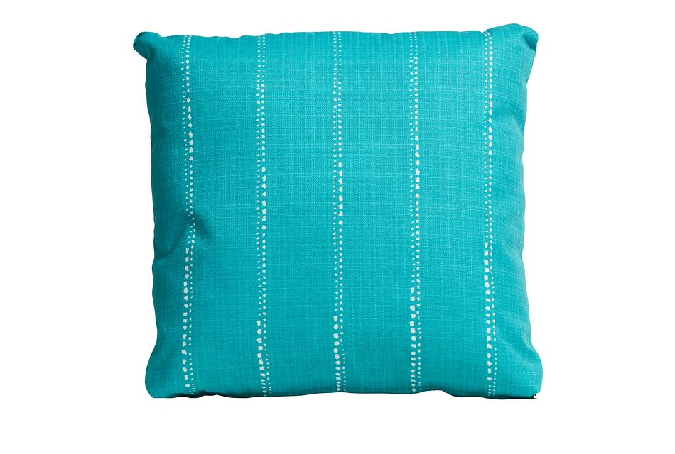 "Carlo Teal 18"" Indoor/outdoor Accent Pillow"