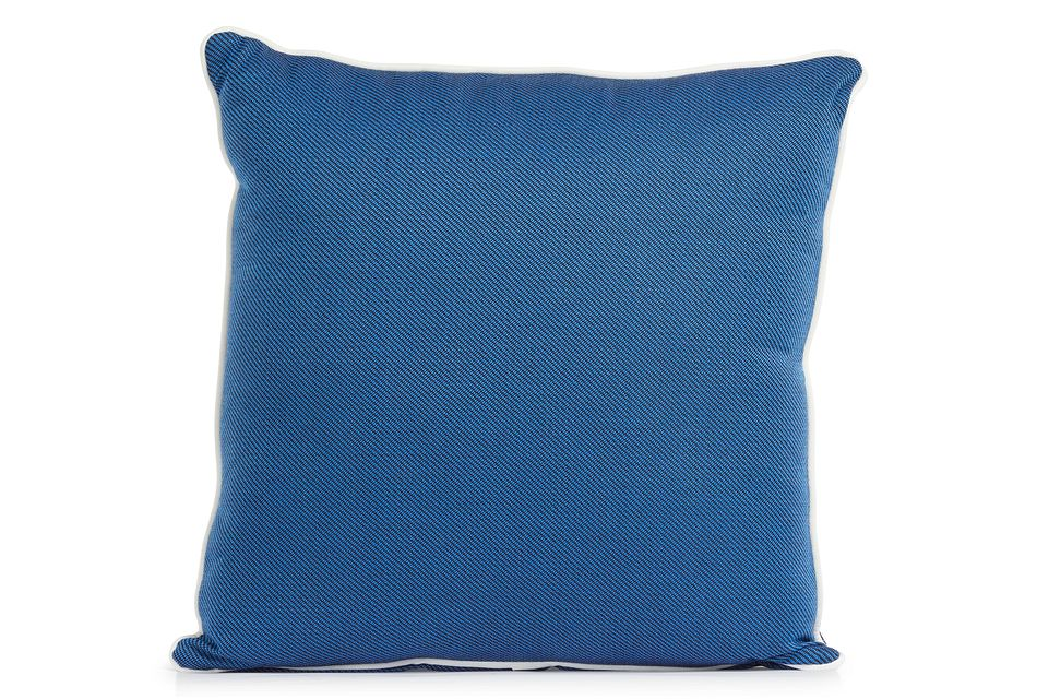 """Forest Blue 20"""" Indoor/outdoor Square Accent Pillow"""