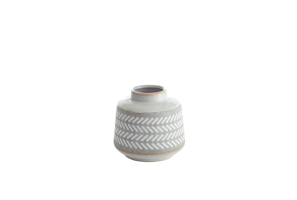 Clover White Small Vase