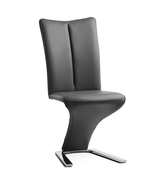 Catalina Dark Gray Upholstered Side Chair (1)