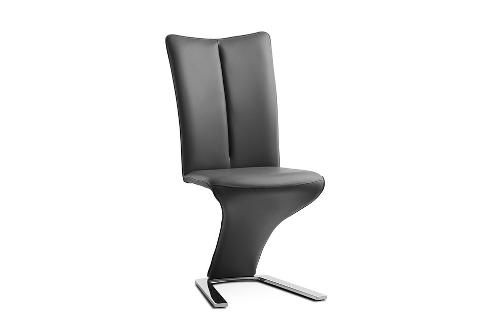 Catalina Dark Gray Upholstered Side Chair