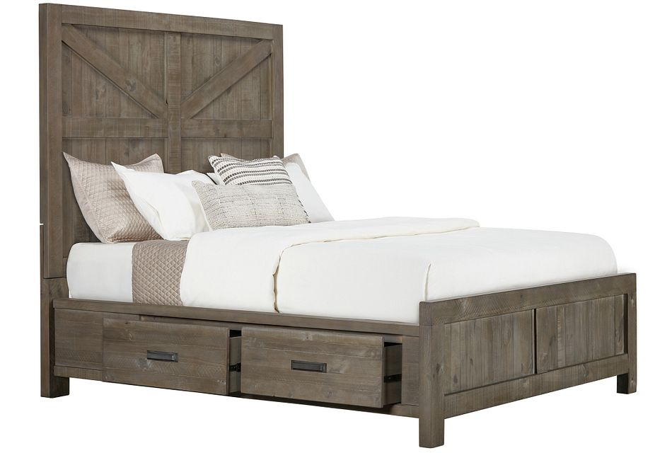 Taryn Gray 4-drawer Panel Storage Bed