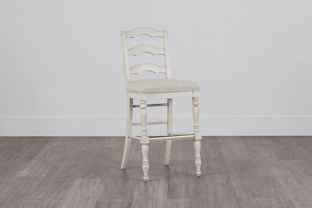 """Savannah Ivory 30"""" Wood Barstool"""
