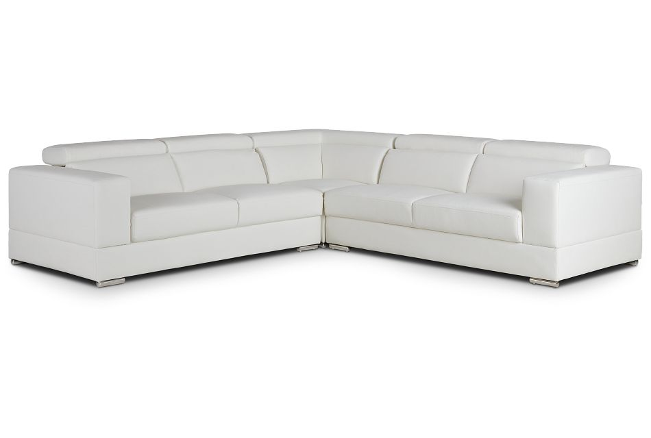 Maxwell White Micro Two-arm Sectional