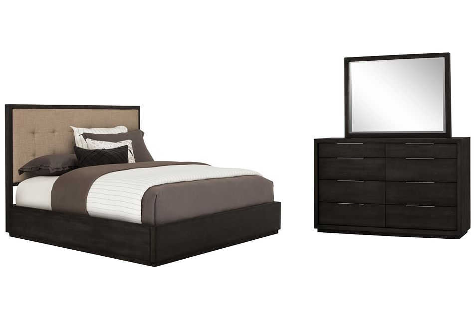 Madden Dark Tone Wood Platform Bedroom