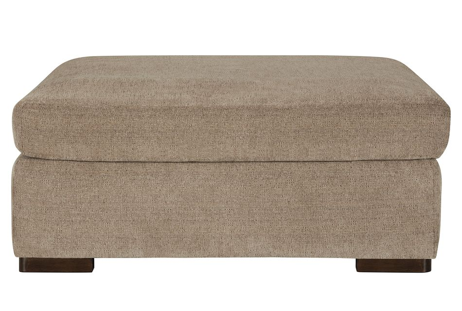 Belair Dark Taupe Fabric Cocktail Ottoman