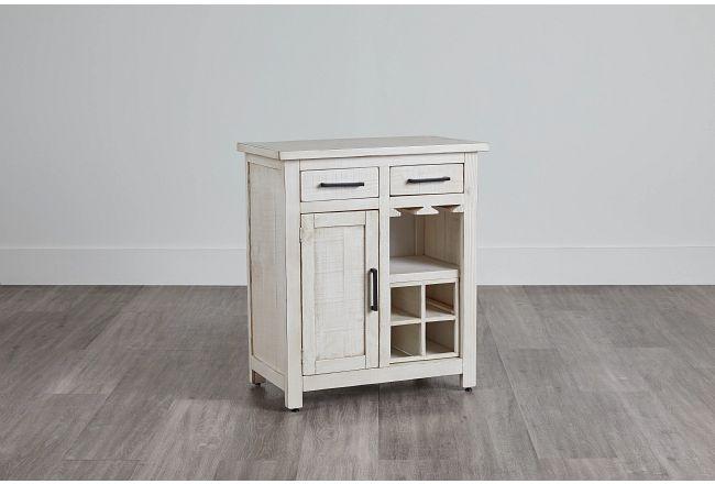 Bodega White Wood Wine Cabinet