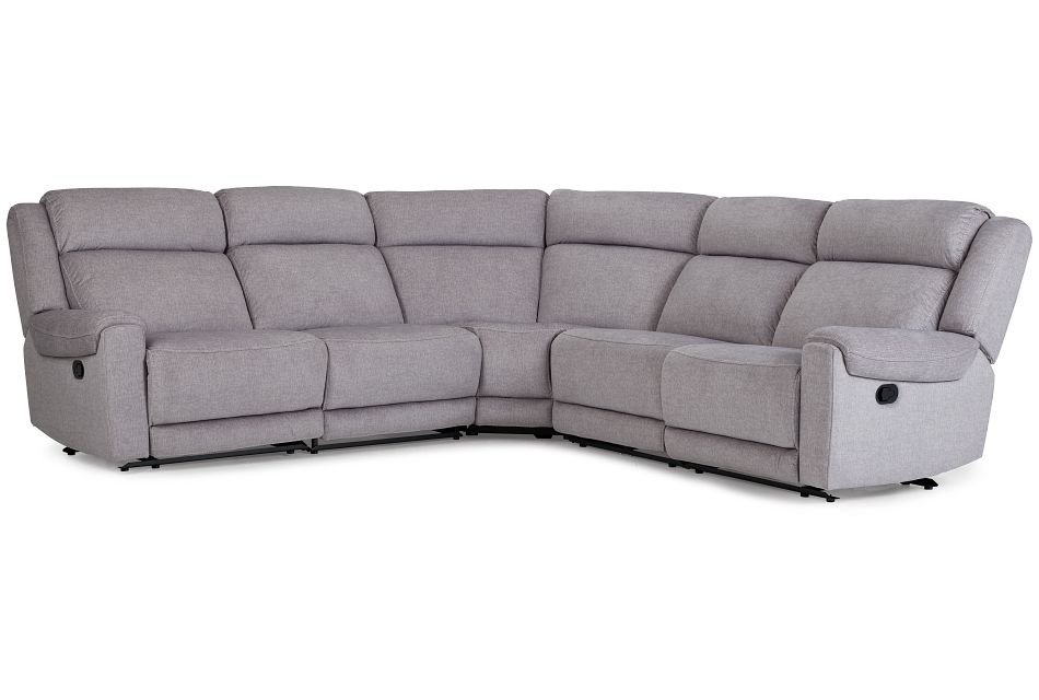 Beckett Gray Micro Small Two-Arm Manually Reclining Sectional,  (1)