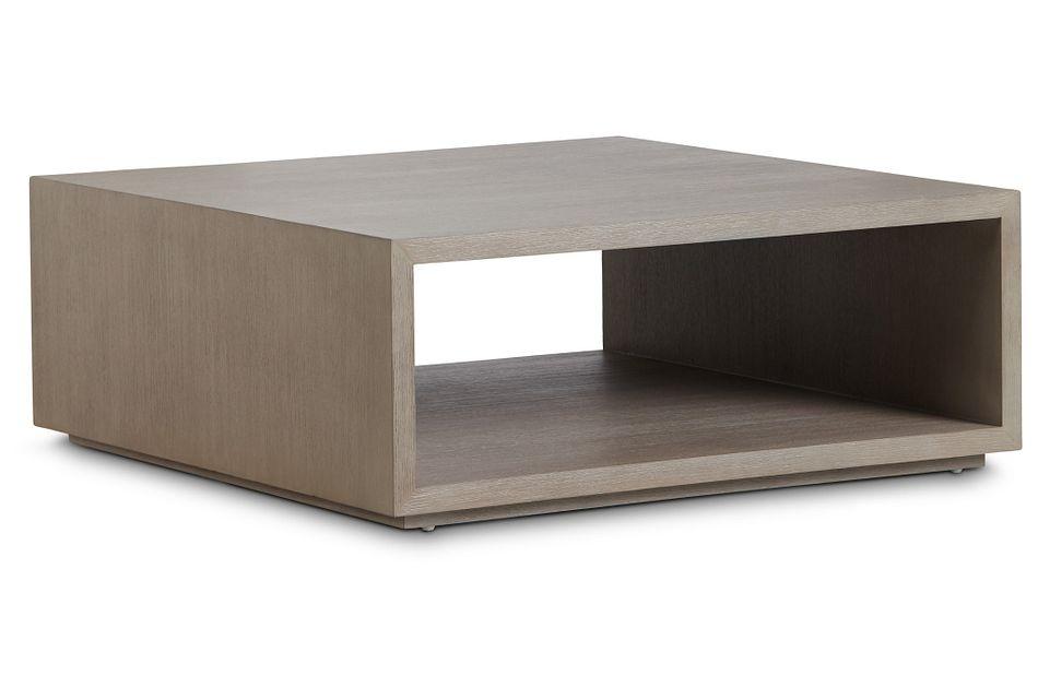 Nixon Light Tone Open Square Coffee Table