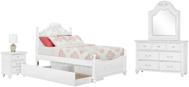 Alana White Uph Poster Trundle Bedroom (2)