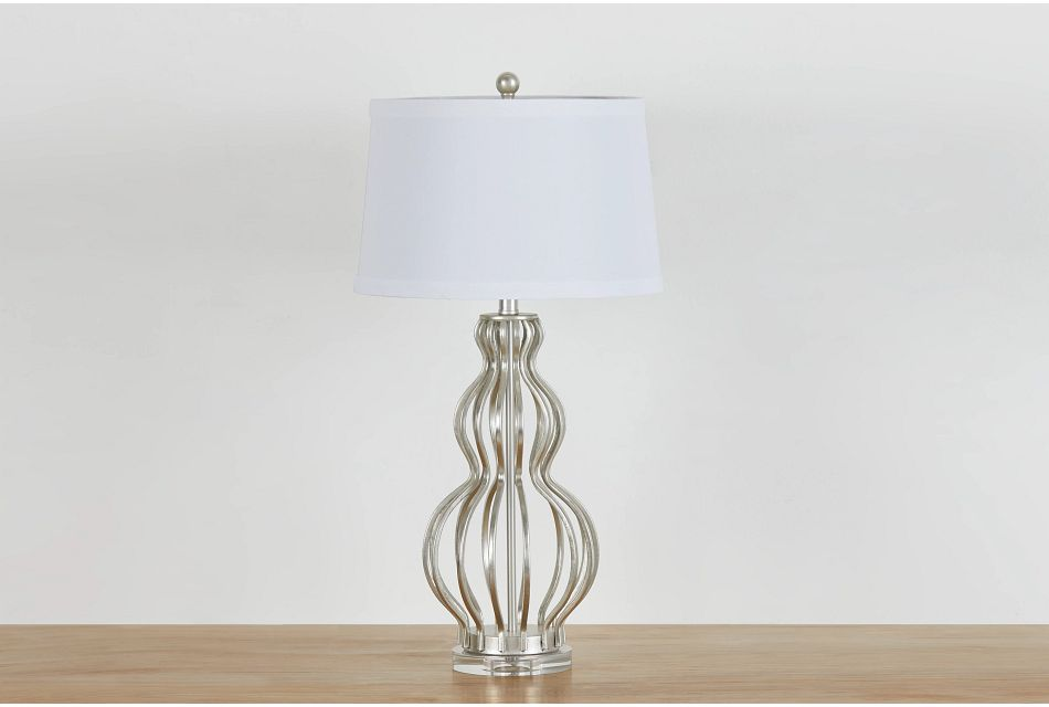 Sophie Silver Table Lamp
