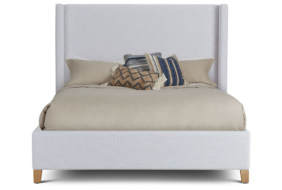 Nantucket White Uph Platform Bed
