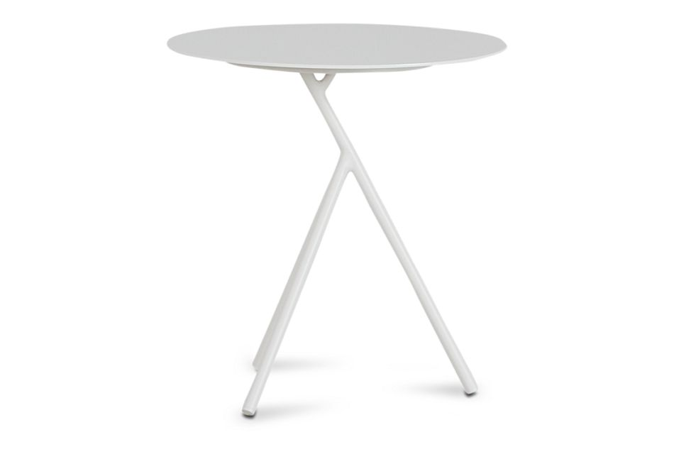 Ibiza White Low Accent Table