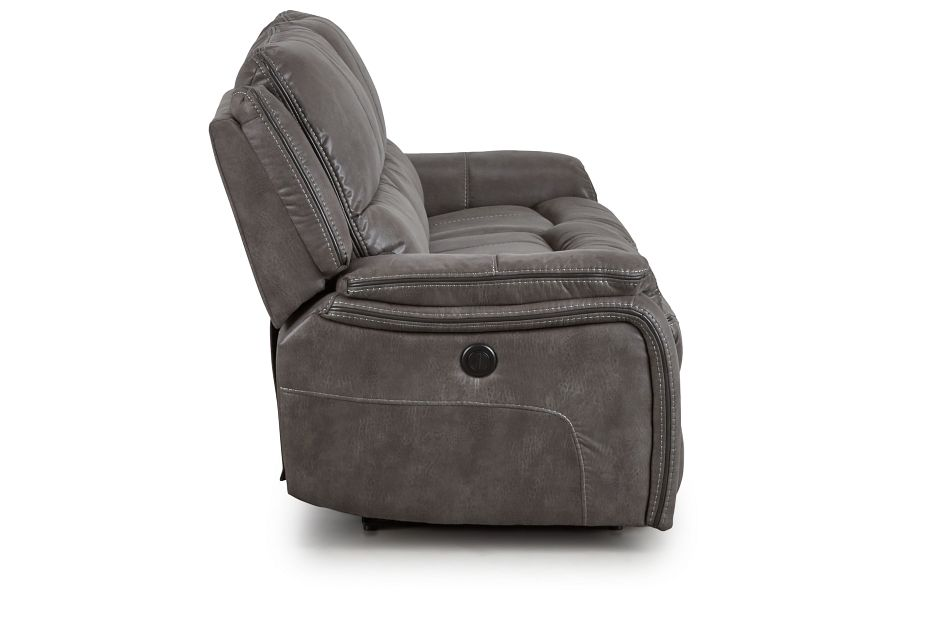 Dober Dark Gray Micro Power Reclining Sofa,  (3)