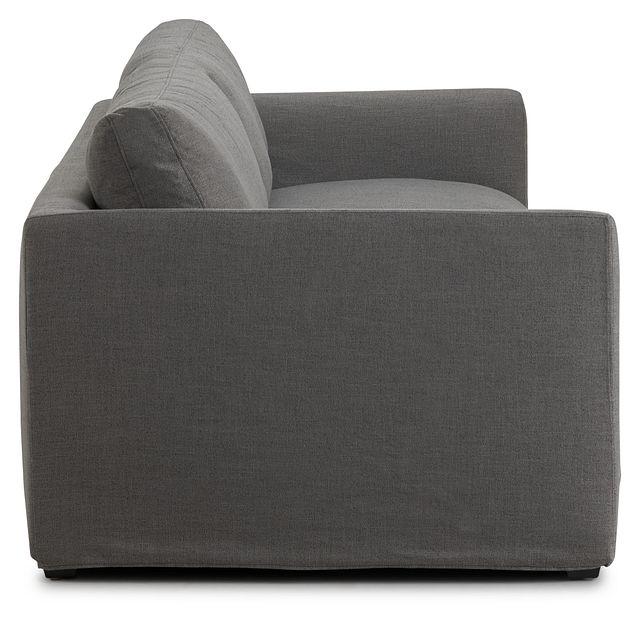 "Willow 102"" Gray Fabric Sofa (3)"