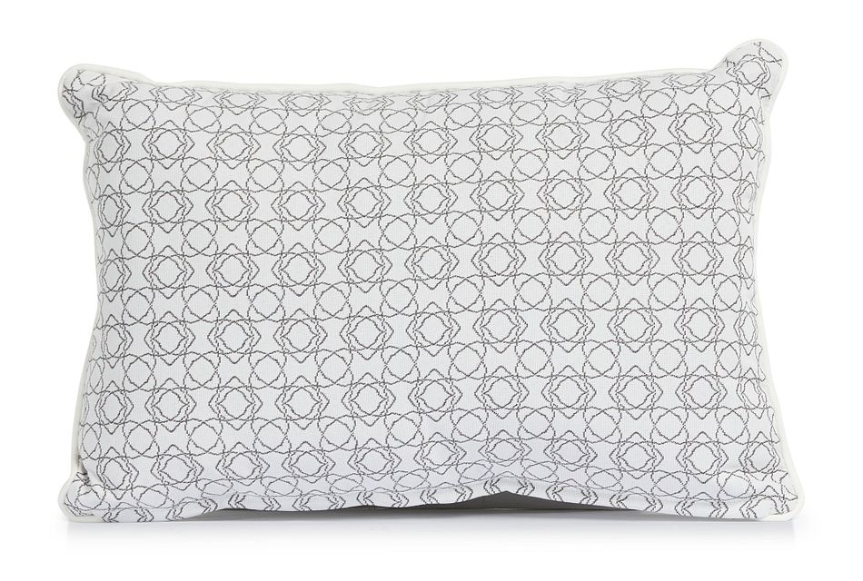 "Valley Gray 13"" Indoor/outdoor Rectangular Accent Pillow"
