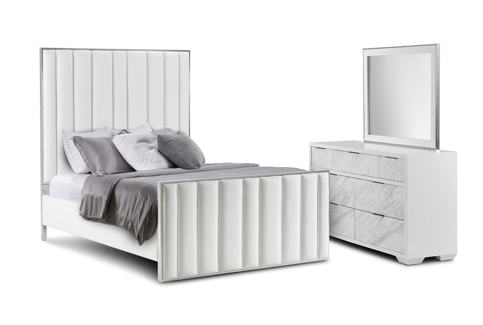 Ocean Drive White Metal Panel Bedroom