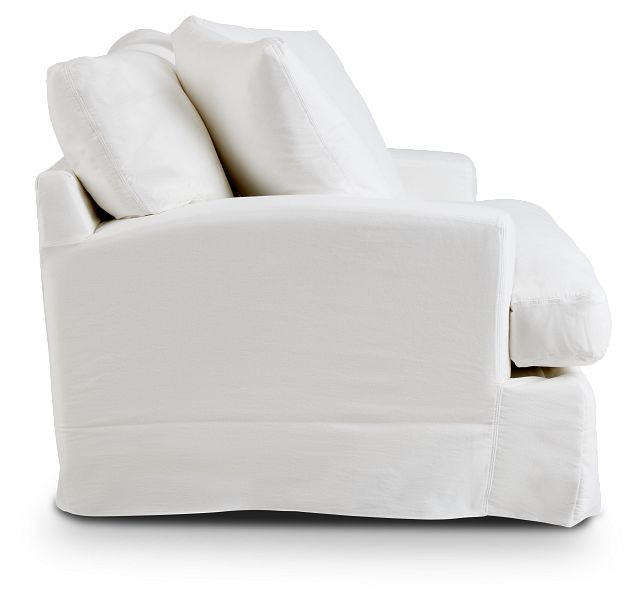 Delilah White Fabric Chair (2)