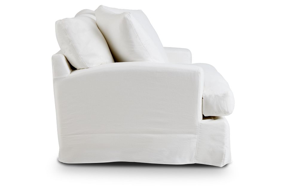 Delilah White Fabric Chair,  (2)