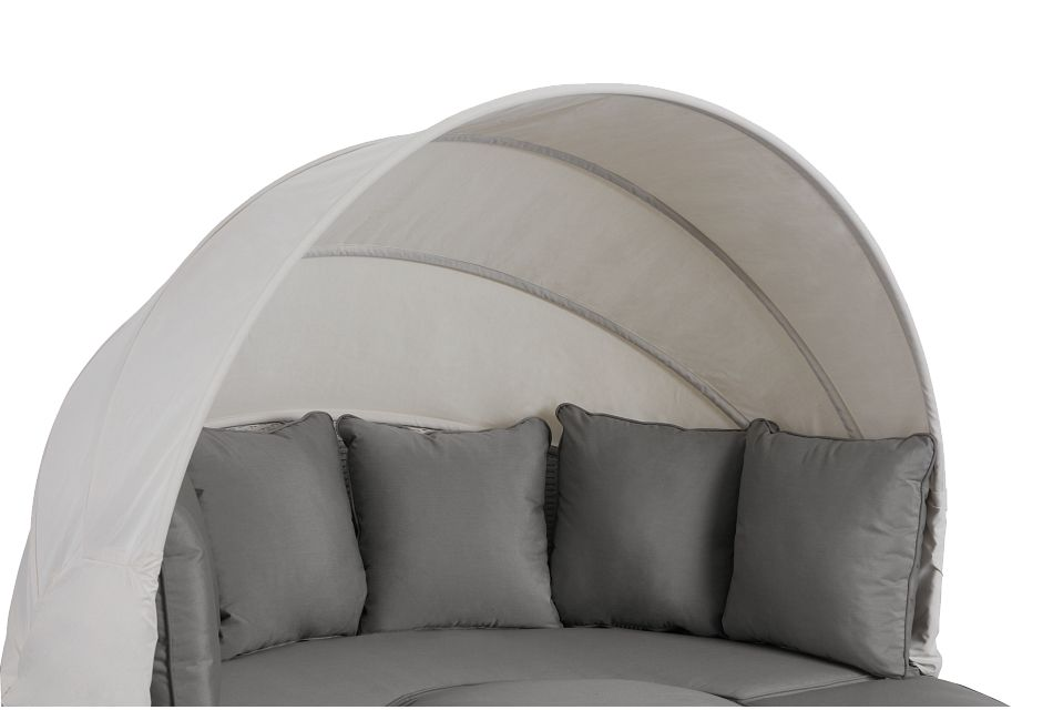 Biscayne Gray Canopy Daybed