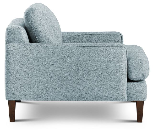 Morgan Teal Fabric Chair With Wood Legs (2)