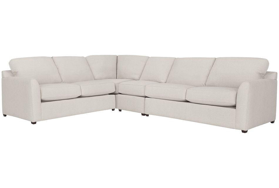 Asheville Light Taupe Fabric Large Two-arm Sectional