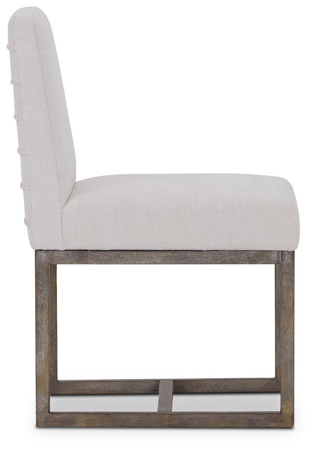Berlin White Upholstered Side Chair (2)
