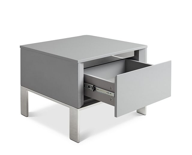 Vancouver Gray Square End Table (2)