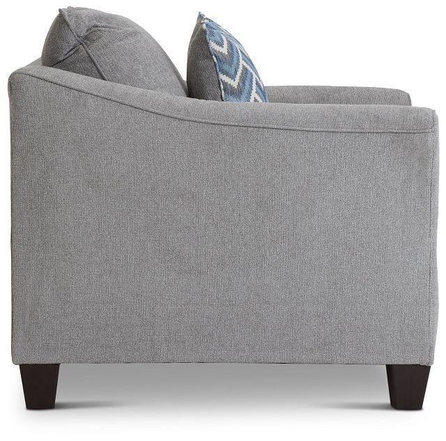 Maggie Light Gray Fabric Chair (2)
