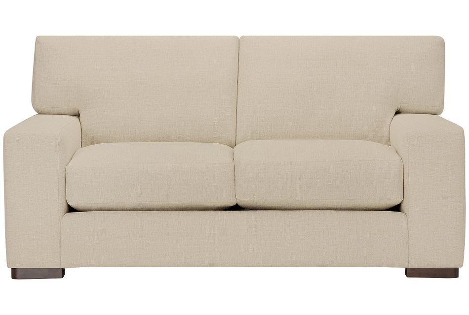 Veronica Khaki Down Loveseat