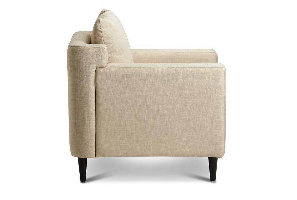 Novara Light Beige Fabric Accent Chair,  (1)