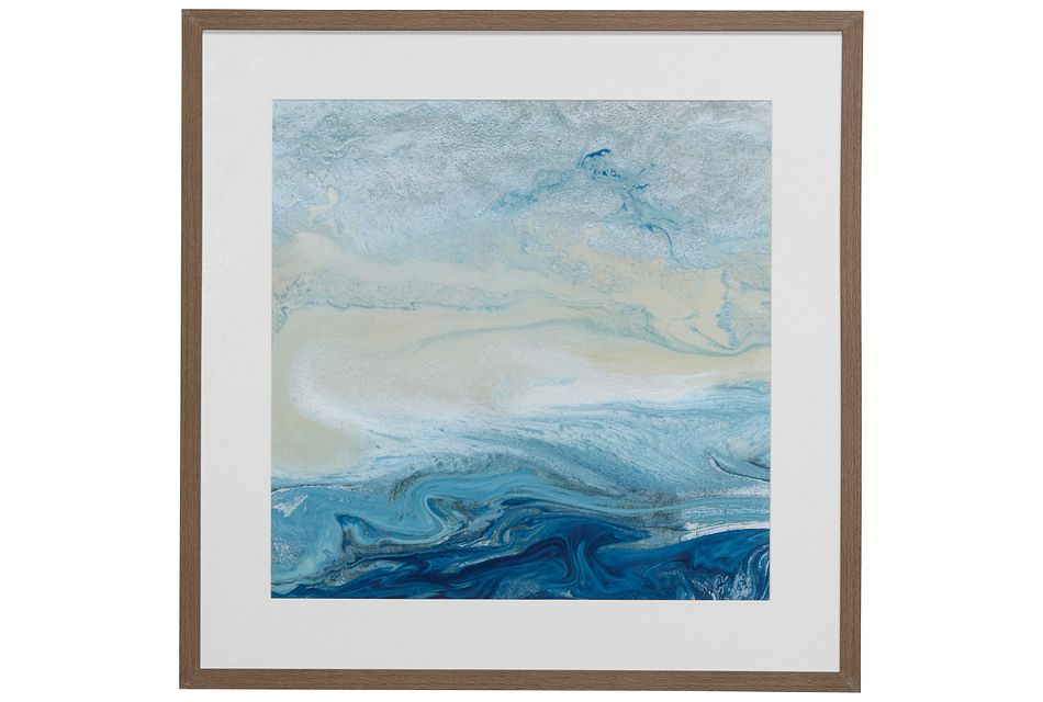 Shores Blue Framed Wall Art