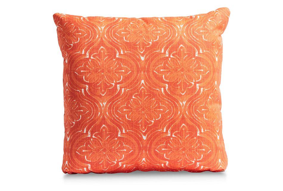 """Atlantic Orange 20"""" Indoor/outdoor Accent Pillow"""