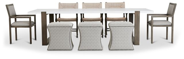 Hadleigh Two-tone Rectangular Table And Mixed Chairs (3)