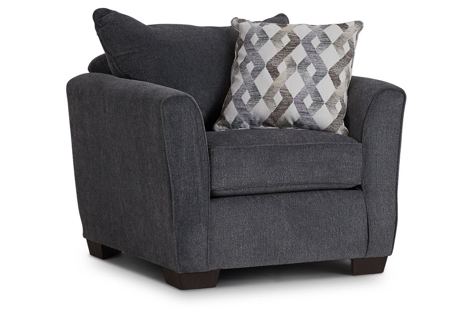 Myra Dark Gray Fabric Chair,  (1)