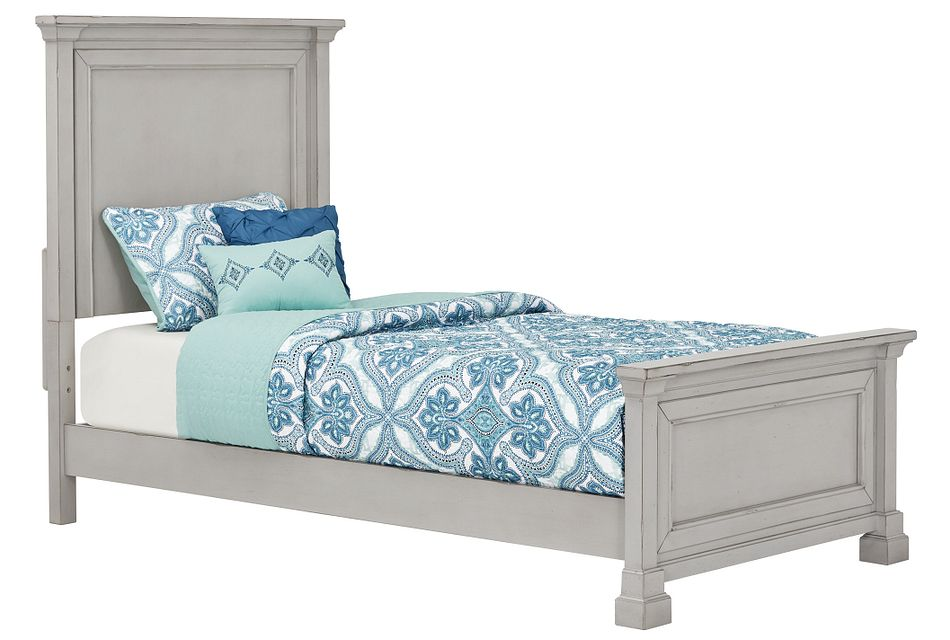 Stoney Gray Panel Bed