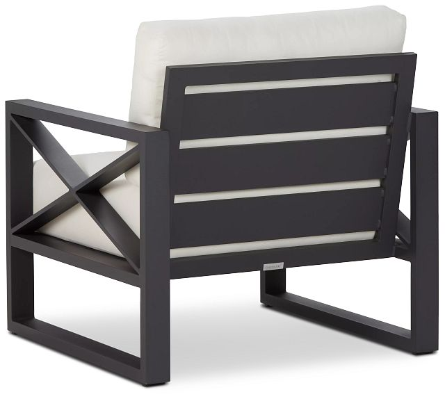 Linear Dark Gray White Aluminum Chair (3)